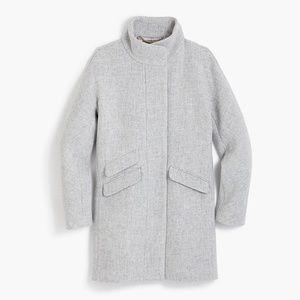 J. Crew Cocoon coat in Italian stadium-cloth wool